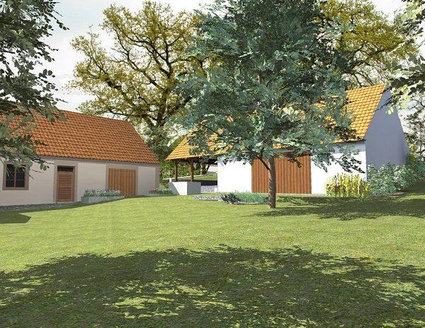 návrh zahrady - dvůr - alterstudio
