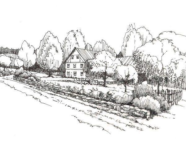 venkovská zahrada - návrh - zídky, záhony, zeleninová zahrádka - alterstudio